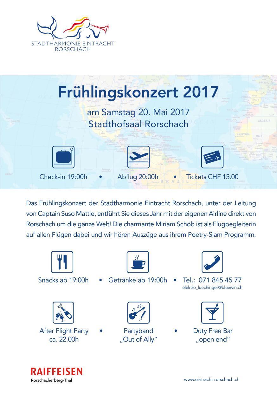 2. Seite des Flyers des Frühlingskonzertes der Stadtharmonie Eintracht Rorschach - Flyer
