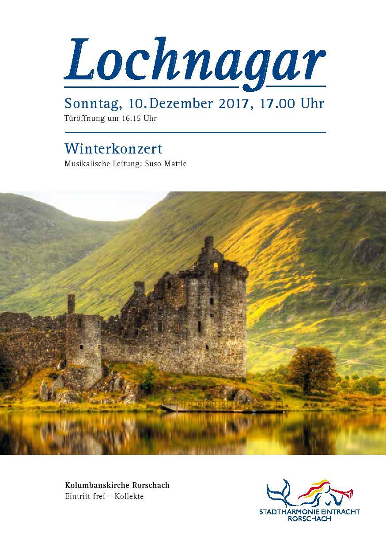 Winterkonzert Programmheft Deckblatt