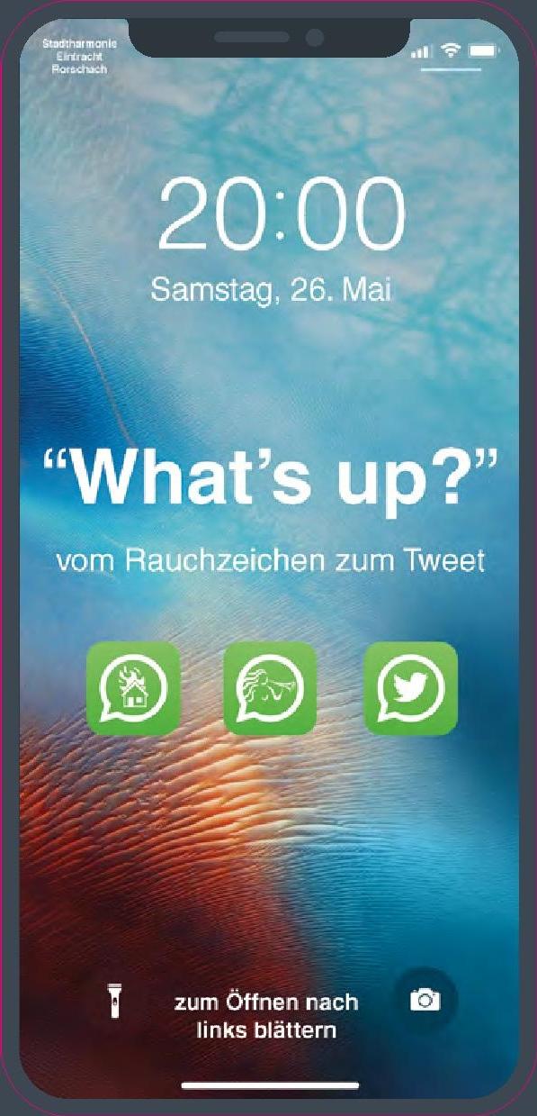Deckblatt des Flyers des Frühlingskonzertes der Stadtharmonie Eintracht Rorschacht