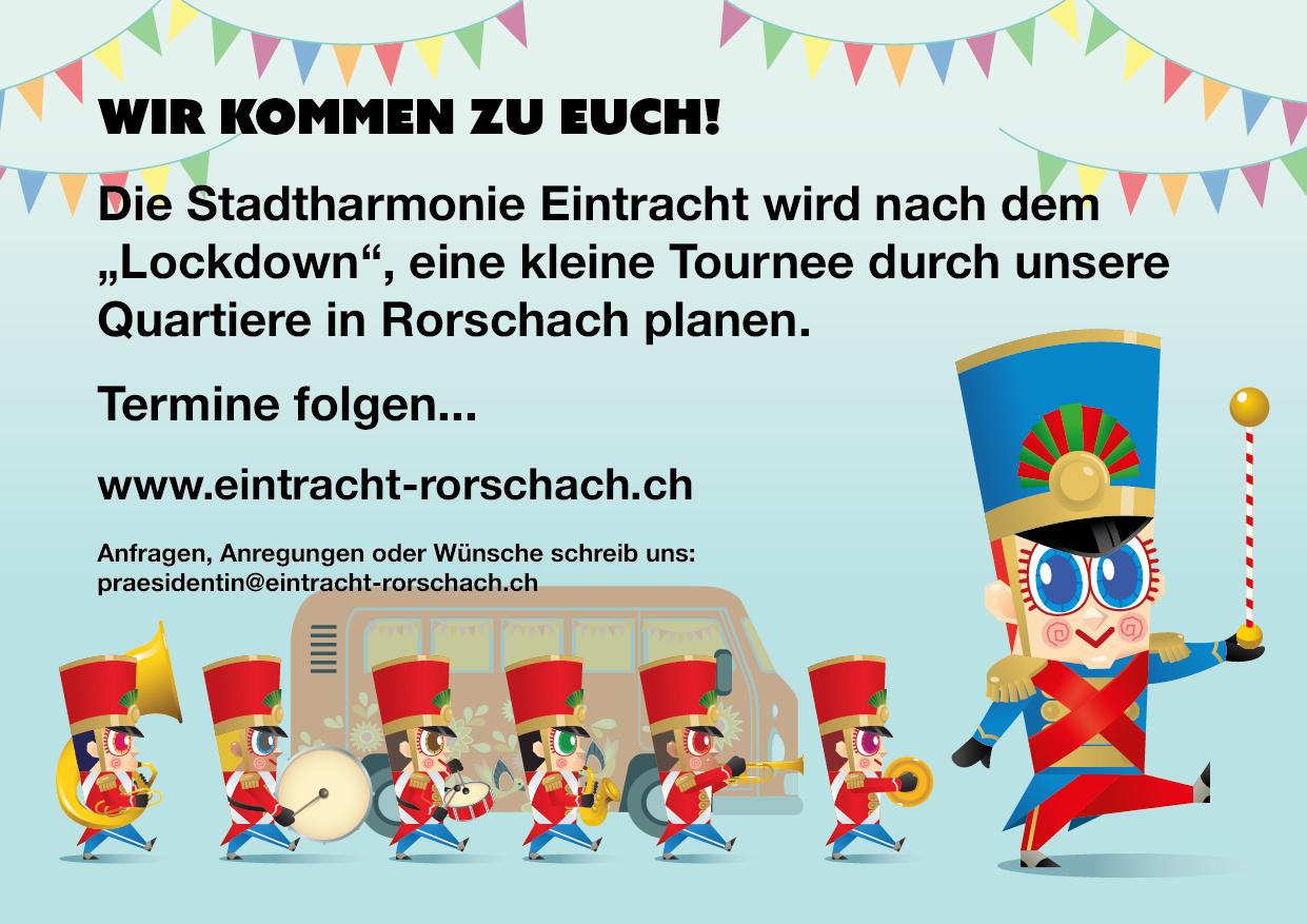 Zweite Seite des Corona-Flyers der Stadtharmonie Eintracht Rorschach